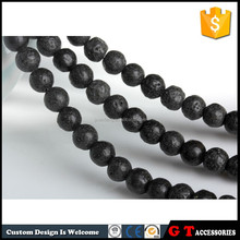 Basalt Type and Grey Color cooking lava rock stone beads