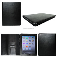 Wallet tablet case for iPad 1/2/3/4/air**FREE LOGO