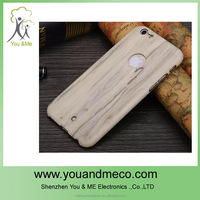 2014 cheapest phone case, 100% natural pc wooden case for iphone 6