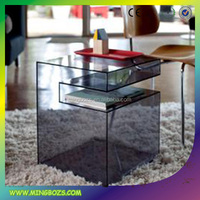 Mini acrylic coffee table fish tank
