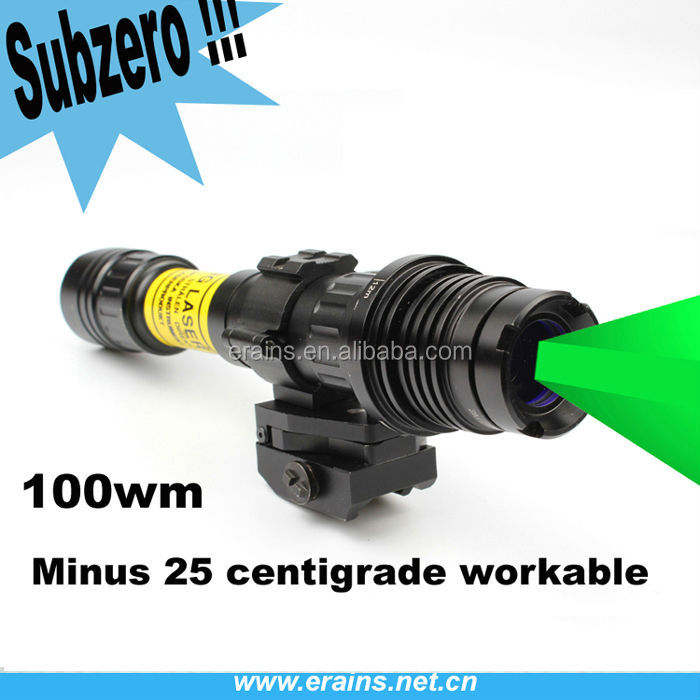 Suzero Zoomable Professional Long Distance tactical nigh vision riflescope of 100mw Green Laser Designator /Sight (ES-LS-KS300)