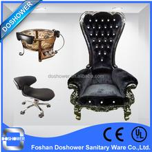 Популярные высокого класса королева председатель черный бархат с чаша беструбный педикюр стул