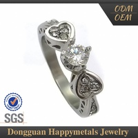 Fashionable Design Sgs Stainless Steel Crown Design Ring