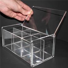 Muiti - funcional lucid lavagem fácil caixa de acrílico com tampa