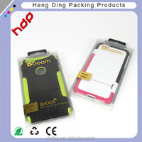 Golden Hot stamping printing folding small clear plastic packaging box for cell phone case