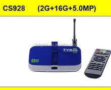 media player Xbmc Kodi cs928 16gb smart tv box camera Quad Core OTT TV Box android 4.4 tv box