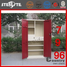 Modern Design Clothes Storage Bedroom Folding Steel Cupboard