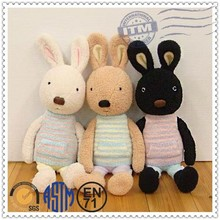 High quality best selling birthday valentines day gifts plush and stuffed toy lovely black rabbit