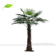 GNW APM043 Miniature Artificial Plastic Palm Tree for dubai model used in outdoor decoration