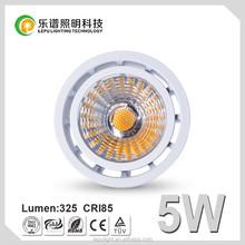 GU10 led bulbs cob 5W dimmable led spotlight bulb cri97 SHARP COB 2700K led spotlight price ce rohs certificate