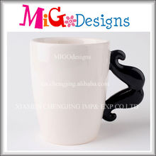 Best Seller Moustache Handle Ceramic Personalised China Mugs