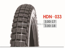 Motorcycle Tires HDN033, 3.00-17, 3.00-18