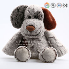adorable sitting dog pug soft plush toy with different big ears