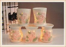 ceramic Weddings tea light holder rose design