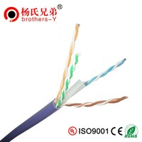 Pure Copper Pass Fluke 0.55mm Cat6 UTP Lan Cable