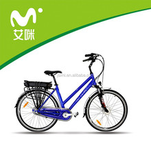 2015 new model 36v 10ah lithium battery 700c city lady electric bike