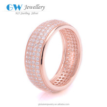 925 Sterling Silver Jewelry Wholesale New Products Stone Ring Light Weight Gold Ring