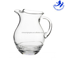 Mouth blown hand made glassware with handle small glass pitcher