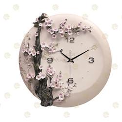 Clock Wall Bird tree Design Silent Sweep Art Clock glass wall clock
