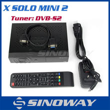 Digital Mini HD Satellite Receiver X SOLO MINI 2 Linux OS iptv Streaming MPEG2-4/H.264 Hardware decoding