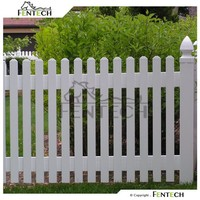 Uv Protected Dog Garden Fence , Vinyl Fence