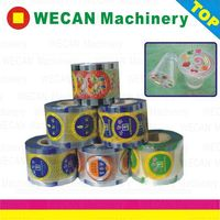Plastic cup sealing film for cup seal
