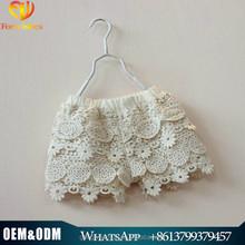 Korean Style Girl Shorts Laced Design Cotton Linning Short Pants For Girls