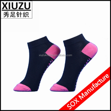 black cotton red heel and toe part women ankle socks