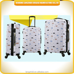 2015 newest Cartoon Luggage suitcase bag, ABS material luggage case, travel luggage case bag with 4 wheels