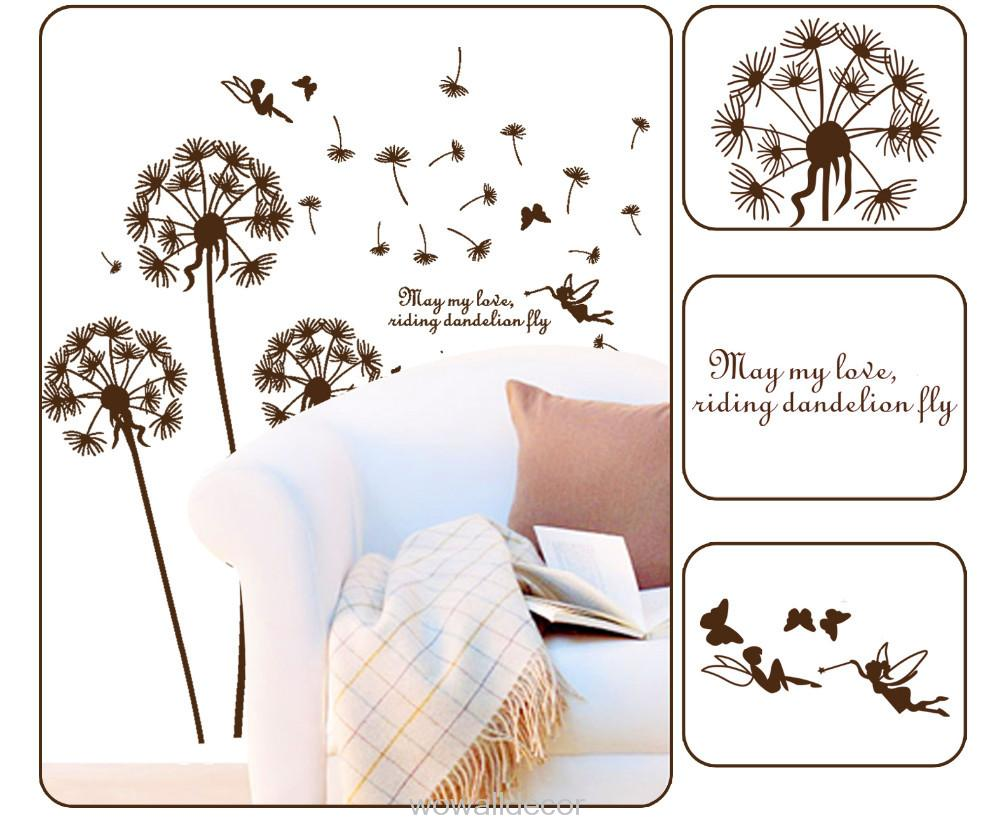 Birds and nest flower tree wall stickers for kids baby room home decor