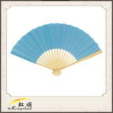 promotional gift items chinese white fabric hand fans