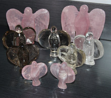 Different color and size CUTE SMALL Natural Quartz Crystal Angel Carvings,natural energy crystals,crystal angel figurine