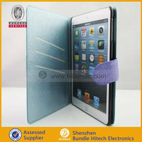 Flip Wallet Leather Protective Case for iPad Mini with Credit Card Holer Slots