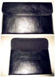 Soft envelope sleeve laptop tablet leather case with sticker, leather laptop bag,leather laptop sleeve for tablet