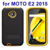 Best selling 3 in 1 Silicone and Hard Shockproof Hybrid case for Moto E 2015 case