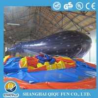 New design inflatable advertising Cartoon whale for fun