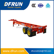 Light weight direct factory two or three axle skeleton container truck trailer / skeletal container chassis