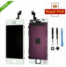 For White iPhone 5C LCD Display Screen + Touch Digitizer +Frame Assembly