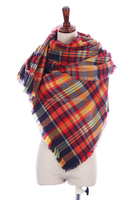 Hot selling long plaid pashmina shawl scarf
