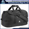 OEM fashion polyester plain black sport duffel bag mens travel bag