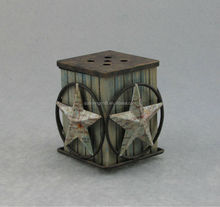 Metal Five Stars Map Grid Electrial Candle Warmer