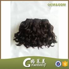 Most popular wholesale high quality grade 7a curly virgin brazilian short human hair weave