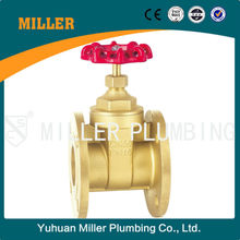 DN80 ISO approved Trade assurance ML-1403 brass material wear-resisting smooh appearance Flange Brass Gate Valve