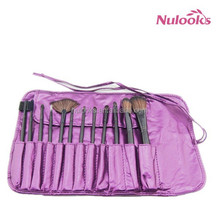 12 pcs purple beauty makeup brush set/made in china/magnetic