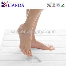 Promotional decorative custom design microfiber memory foam color changing anti-slip shower bathroom mat