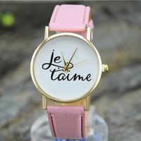 2015 new product leather fashion men leather wrist strap lady brand sport China vogue watch hot sale