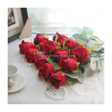 New Arrival 12 heads red table wedding decoration artificial flower