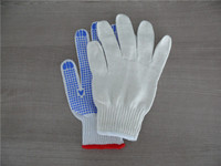 Great China Factory supply knitted cotton gloves, finger protection work gloves