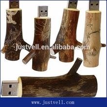 Natural tree branch wooden usb drive, tree shape 8gb usb flash drive bulk