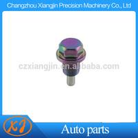 aluminum cnc colorful anodizing chromed oil drain plug